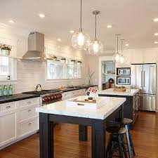 Kitchens With Two Islands Long Kitchen Islands Design Ideas