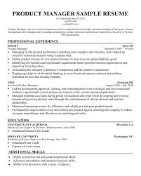 Product Manager Resume Example by Product Manager Resume Sample Best Template Collection Baypnuz