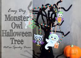 halloween trees pumpkins background easy monster owl halloween tree not so spooky decor diy adulation