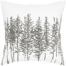 rizzy home white tree pattern decorative throw pillow hayneedle