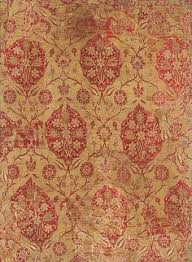 ottoman with patterned fabric ottoman 16th century silk las fragment metropolitan museum