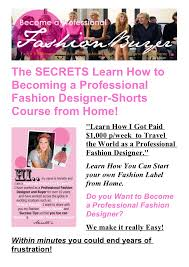 Learn Fashion Designing At Home Aloinfo aloinfo
