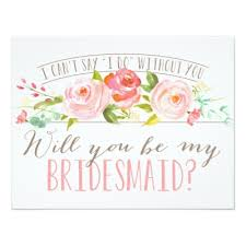 bridesmaid cards will you be my bridesmaid bridesmaid card zazzle
