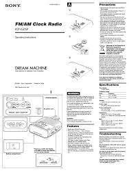 sony clock radio manual sony icf c218 user manual 2 pages also for dream machine icf c218
