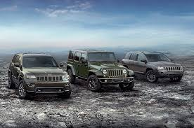 jeep models 2016 jeep lineup adds 75th anniversary edition for all models