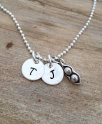 Engravable Sterling Silver Charms Two Peas In A Pod Engraved Sterling Silver Initial Letter Charm