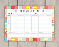 Weekly Family Calendar Template calendar family planner weekly planner family calendar family