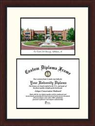 fsu diploma frame fsu florida state diploma frame lithograph legacy