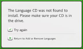 rosetta stone german cd i m receiving the message the language cd was not found please