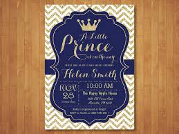 prince baby shower invitations prince baby shower invitation royal blue and gold crown baby