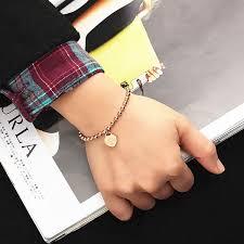 rose gold bead bracelet images Rose gold quot love forever 520 quot love heart pendant beads bracelet jpg