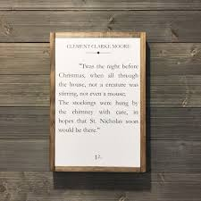 book page sign quote sign twas the night before christmas