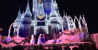 watch as elsa transforms cinderella castle into a shimmering