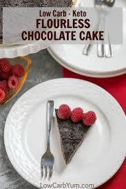 keto flourless chocolate cake gluten free low carb yum