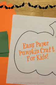 easy fall paper pumpkin craft for kids to decorate