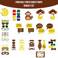 instant download monkey printable photo booth prop set printable