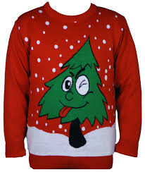 novelty christmas jumpers christmas tree sweaters in red s to 7xl