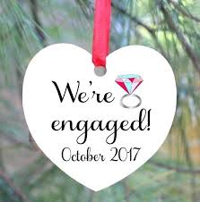 wedding ornaments personalized engagement ornaments engaged ornament engagement ornament