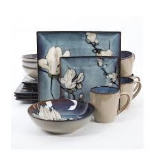 gibson bloomsbury 16 dinnerware set blue
