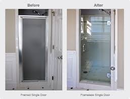 Shower Stall Doors Single Shower Door Replacement For Walk In Shower Frameless