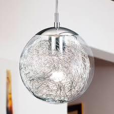 glass kitchen lights eglo 93073 luberio glass globe pendant light with aluminium