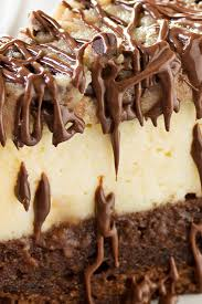 brownie bottom cookie dough cheesecake the chunky chef