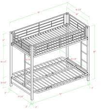 amazon com walker edison twin over futon metal bunk bed white