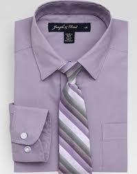 joseph u0026 feiss boys lavender shirt and purple stripe clip on tie