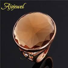 big rings designs images 010 unisex simple design single stone rings real 18k rose gold big jpg