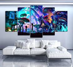 living room wall modern home rick and morty wall painting modern home decor for living room