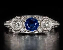 vintage 3 stone diamond ring wedding promise diamond