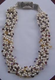 amethyst necklace beads images Pearl amethyst citrine garnet bead necklace jpg