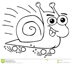 funny snail coloring pages stock illustration image 70849133
