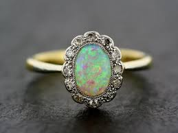 vintage opal engagement rings deco opal ring antique 1930s opal and by alistirwoodtait