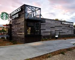 this drive thru store in denver was built from reclaimed shipping