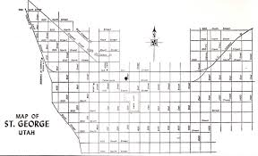 Washington County Maps by 1961 Street Map Of St George