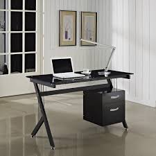 Computer Desk Ebay by Foxhunter Computer Desk Pc Table With Glass Top 2 Drawers Home