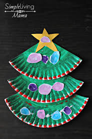 paper plate christmas tree craft simple living mama