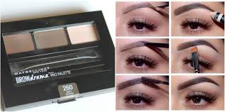 maybelline deep brown brow drama pro palette review