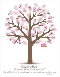baby shower fingerprint tree baby shower tree ideas house generation
