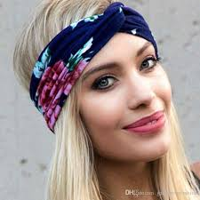 hippie hair bands 2018 hot women floral bohemian hippie turban headband soft