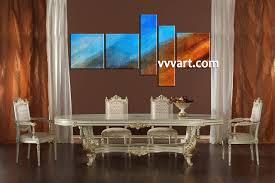 156 Best Blue Kitchens Images 5 Piece Blue Oil Paintings Abstract Multi Panel Canvas