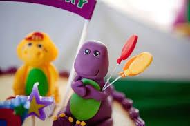 Diy Barney Decorations Kara U0027s Party Ideas Barney Themed Birthday Party