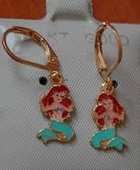 mermaid earrings 14k gold fill princess ariel mermaid earrings kids