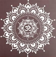 Black White Home Decor Mandala Pattern Big Wall Decal Vinyl Art Sticker Yoga Lotus