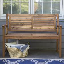 Garden Bench With Storage - coral coast norwood 4 ft horizontal slat back outdoor wood garden