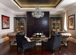 Black Sofa Interior Design by Designs Ideas Beige Glamour Living Room With Black Sofa Also