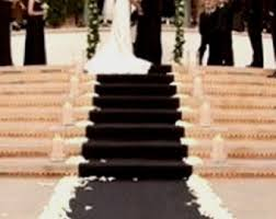 black aisle runner black aisle runner etsy