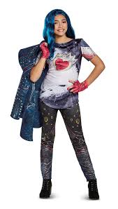 amazon com disney evie deluxe descendants 2 costume blue medium