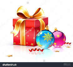 vector illustration of funky gift box and cool christmas